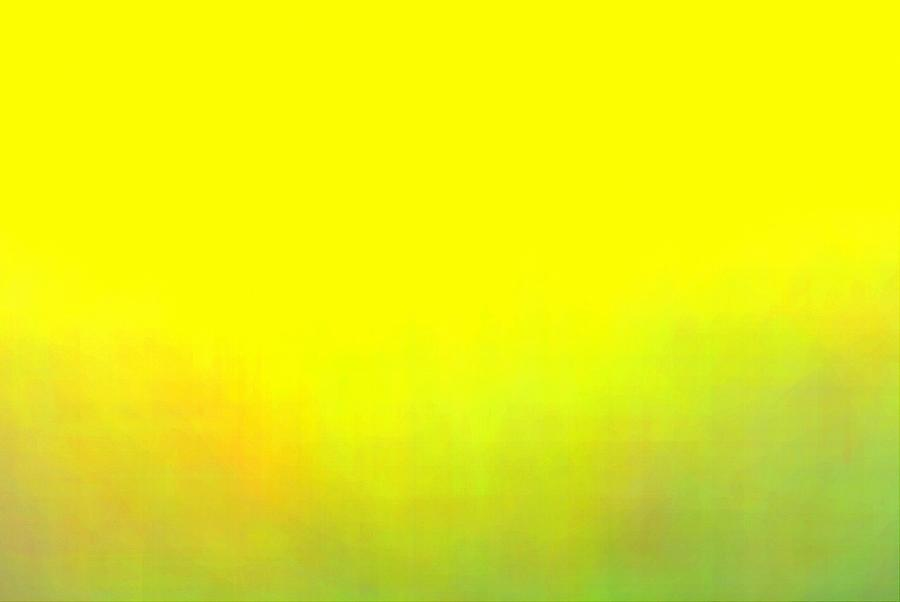Abstract Blurry Yellow With Green Nature Background Photograph