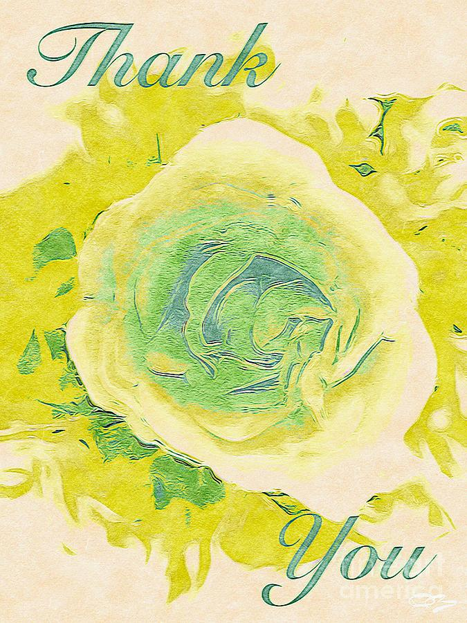 Abstract Botanical Greeting Card Collection 0035 Digital Art