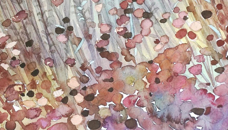 Abstract Buckwheat Heads Painting