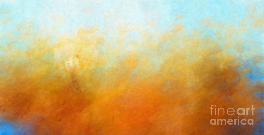 Rustic Painting - Abstract Burning Sky by Stefano Senise