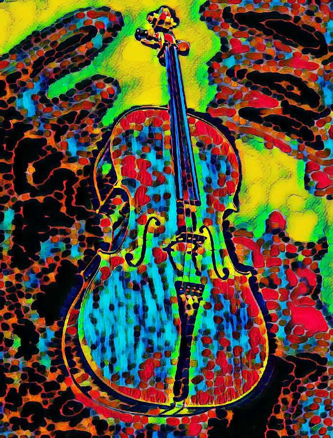 Abstract Cello Beauty by Ally White