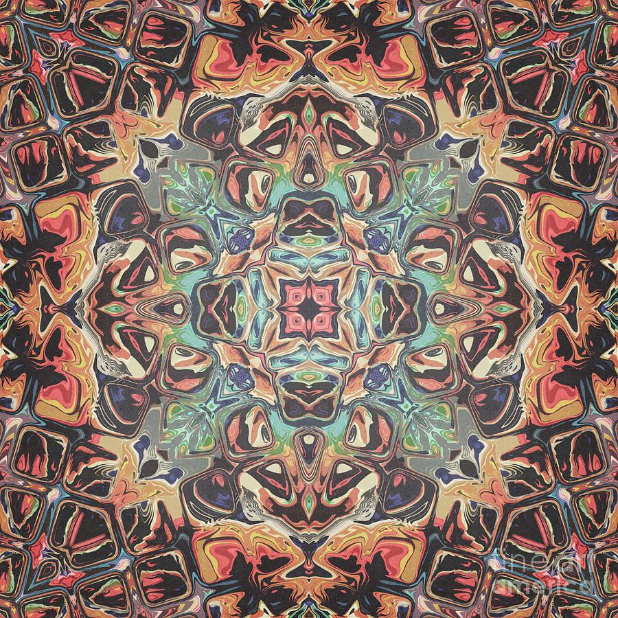 Abstract Circular Mandala by Phil Perkins