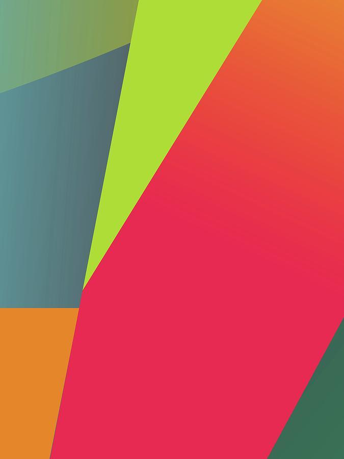 Abstract Colorful Gradient Pop Art 108 Digital Art