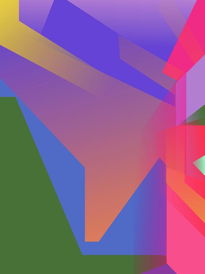 Abstract Colorful Gradient Pop Art 136 Digital Art