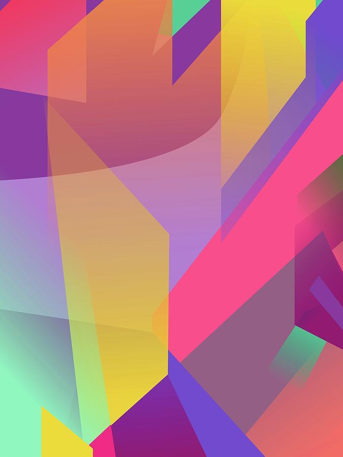 Abstract Colorful Gradient Pop Art 137 Digital Art