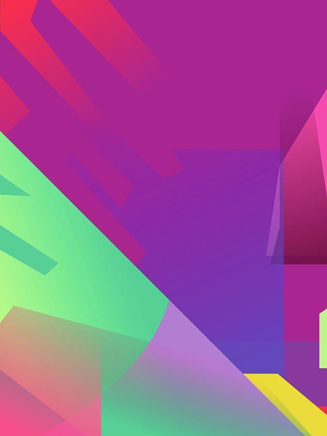 Abstract Colorful Gradient Pop Art 139 Digital Art