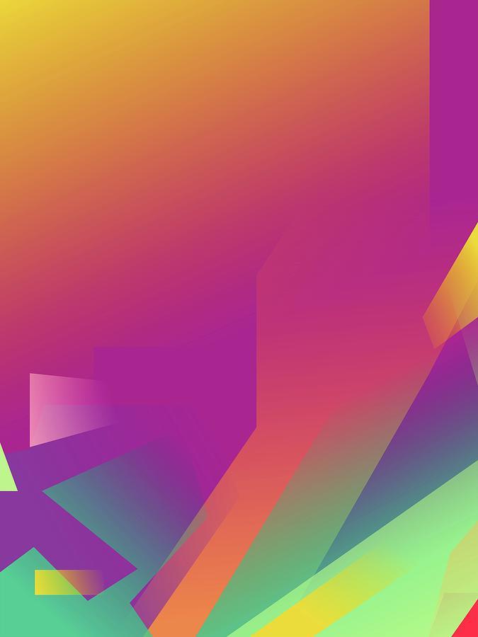 Artistic Digital Art - Abstract Colorful Gradient Pop Art 140 by Ahmad Nusyirwan