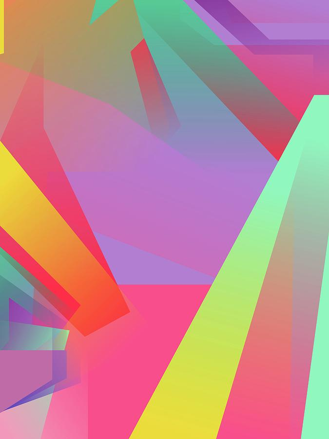Abstract Colorful Gradient Pop Art 141 Digital Art