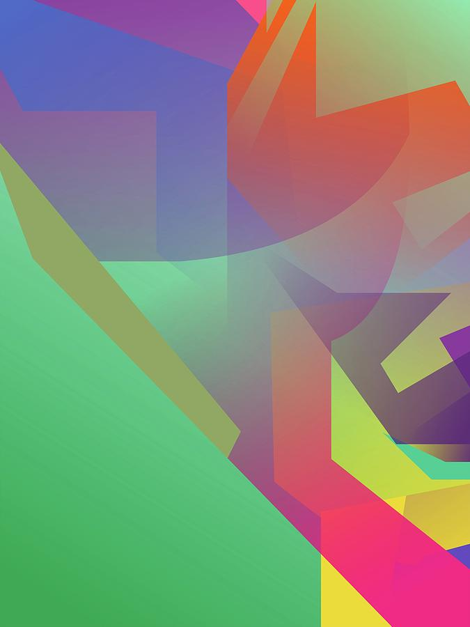 Artistic Digital Art - Abstract Colorful Gradient Pop Art 142 by Ahmad Nusyirwan