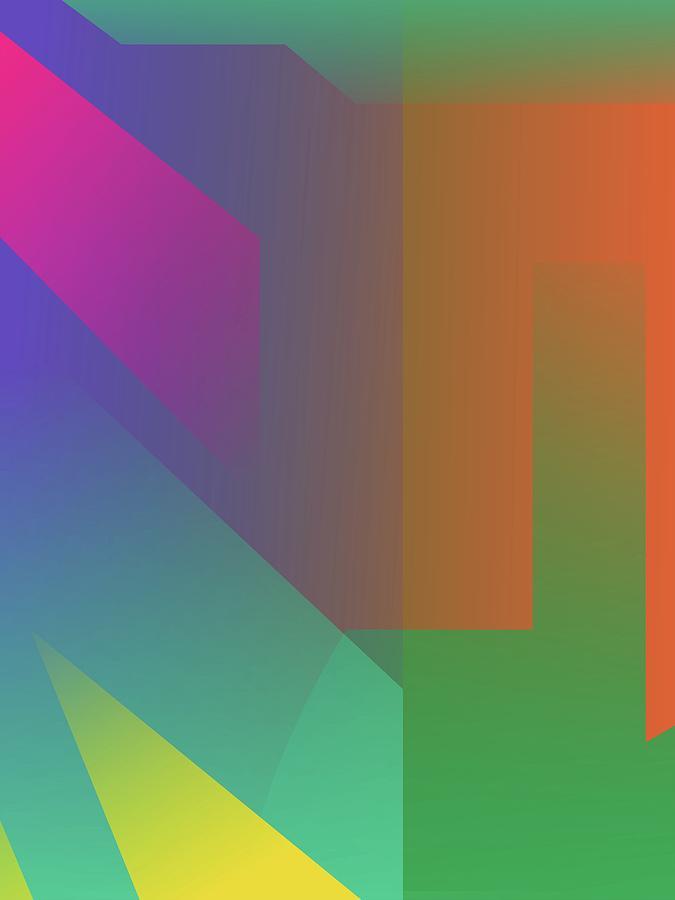 Abstract Colorful Gradient Pop Art 143 Digital Art