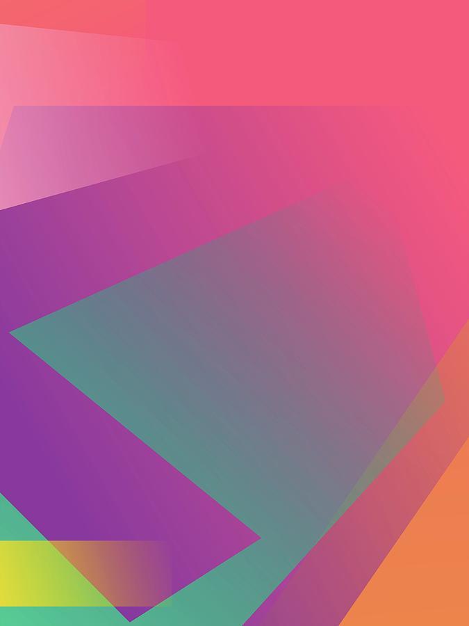 Abstract Colorful Gradient Pop Art 160 Digital Art