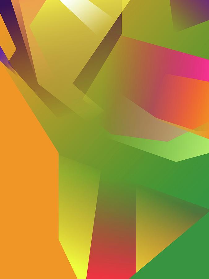Abstract Colorful Gradient Pop Art 186 Digital Art