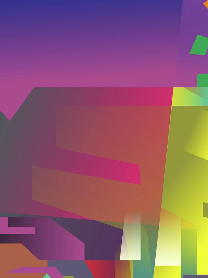 Artistic Digital Art - Abstract Colorful Gradient Pop Art 79 by Ahmad Nusyirwan