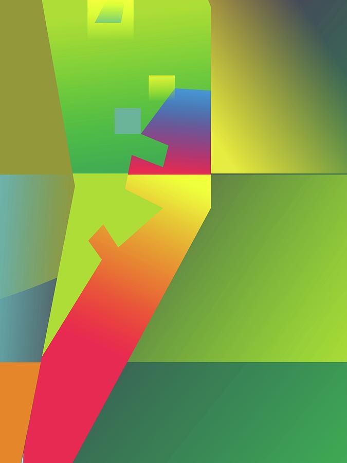 Artistic Digital Art - Abstract Colorful Gradient Pop Art 80 by Ahmad Nusyirwan