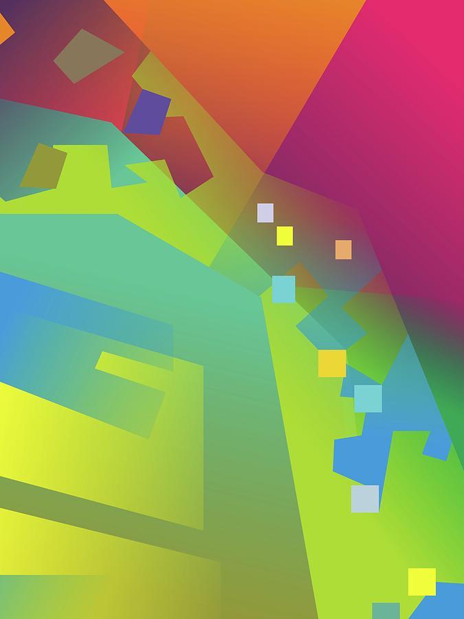 Abstract Colorful Gradient Pop Art 82 Digital Art