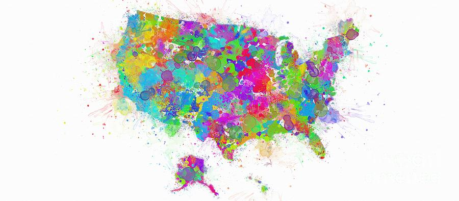 Abstract Colorful USA by Stefano Senise