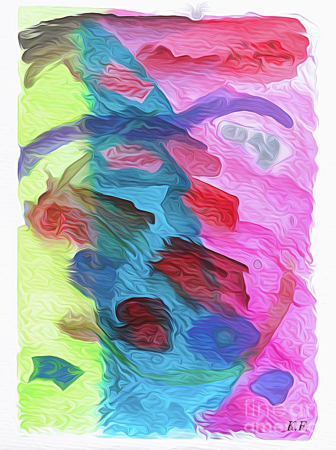 Abstract Face - Watercolor And Mixed Media Photograph
