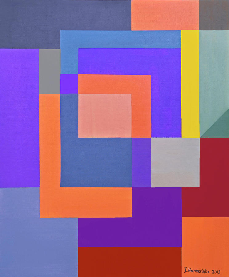 Abstract Geometric Composition Spring Painting