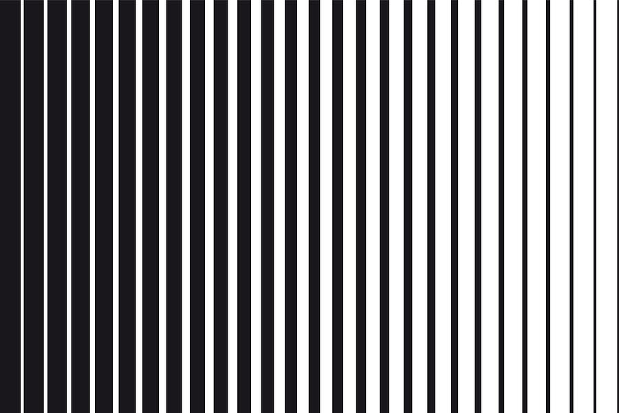Abstract gradient background of black and white parallel vertical lines Drawing by Dimitris66