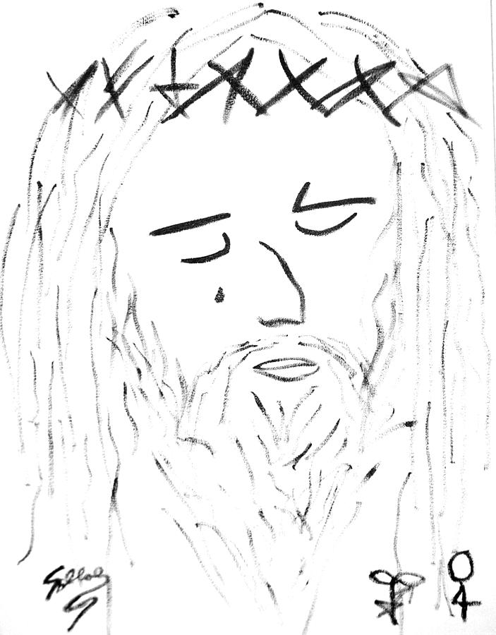 Abstract Painting - Abstract Jesus Face by Sollog Artist