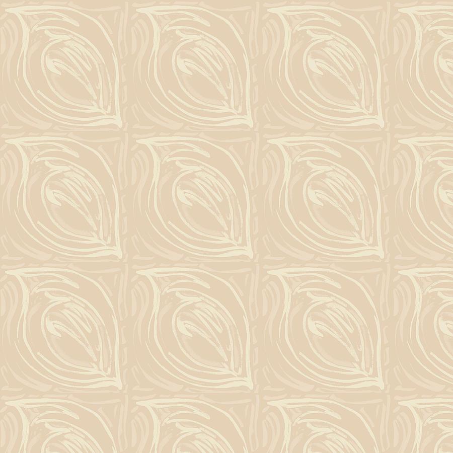Abstract Leaf Print Tribal Tropical Digital Art