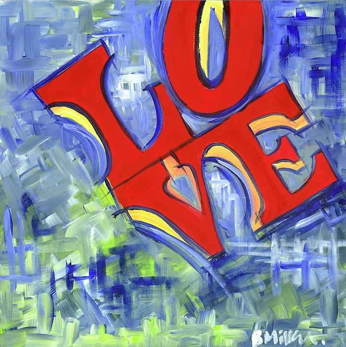 Love Painting - Abstract Love by Britt Miller
