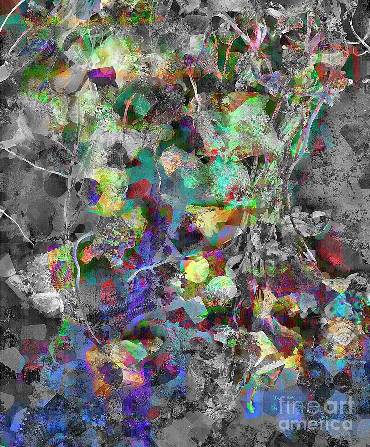 Horizontal Digital Art - Abstract Lyrics by Edmund Nagele