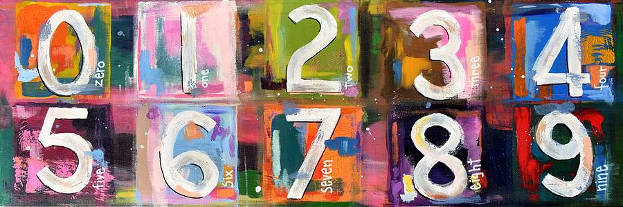 Abstract Numbers Painting