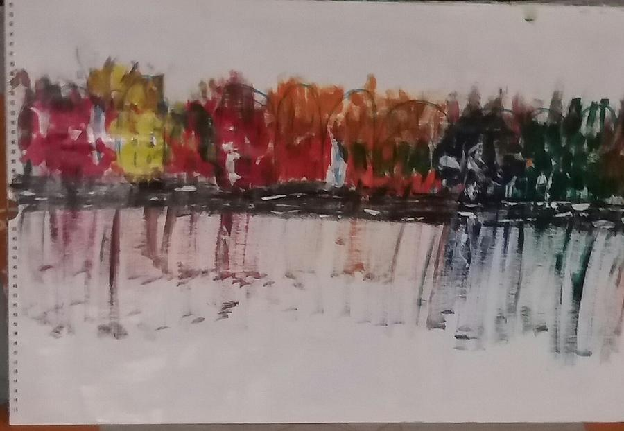 Abstract Of Colourful Houses Painting