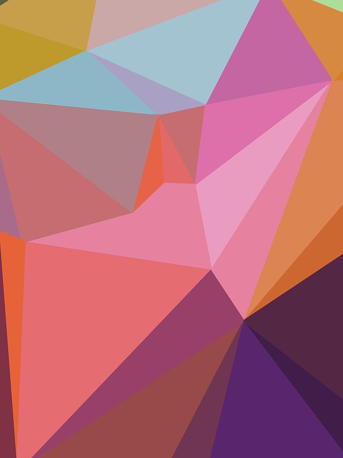 Abstract Polygon Illustration Design 111 Digital Art