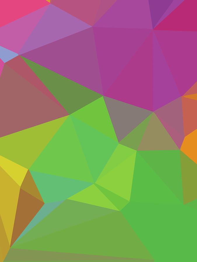 Abstract Polygon Illustration Design 140 Digital Art
