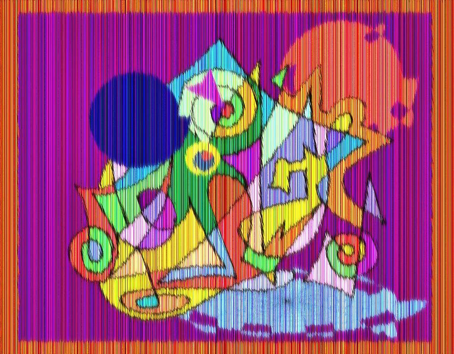 Abstract Rain Digital Art