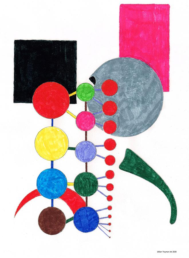 Abstract Spheres Painting