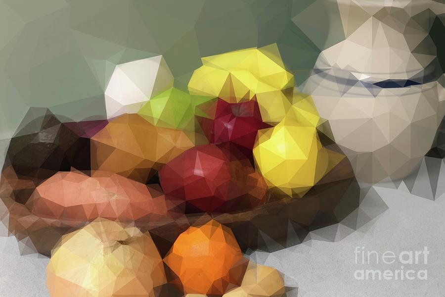 Abstraction Digital Art - Abstract Still Life Study Of F And V by Karen Francis