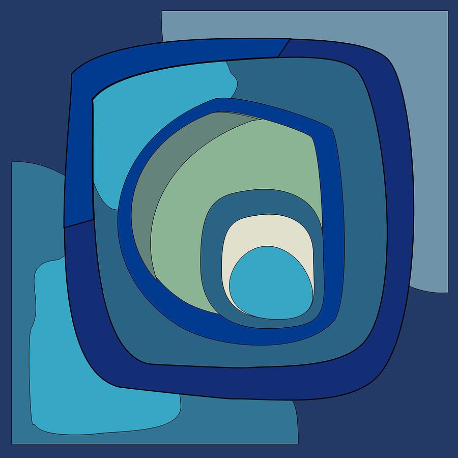 Abstract Digital Art - Abstract trendy art by Elena Sysoeva