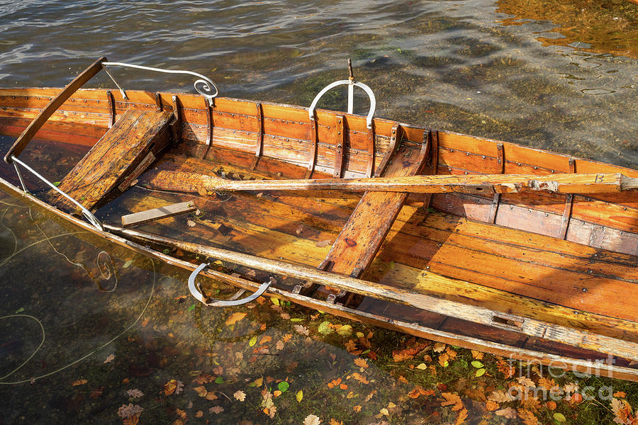 Abstract view of flooded wooden boat by Bryan Attewell