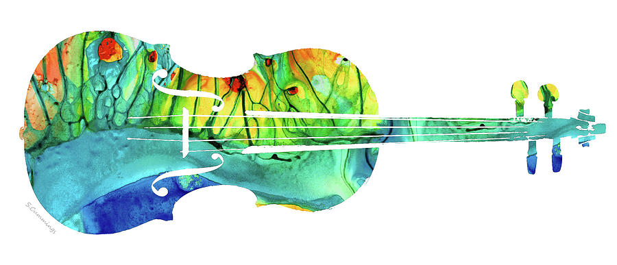 Violin Painting - Abstract Violin Art by Sharon Cummings by Sharon Cummings