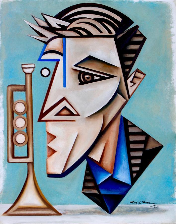 Jazz Painting - Academician Jazz/ a portrait of Thomas Heflin by Martel Chapman