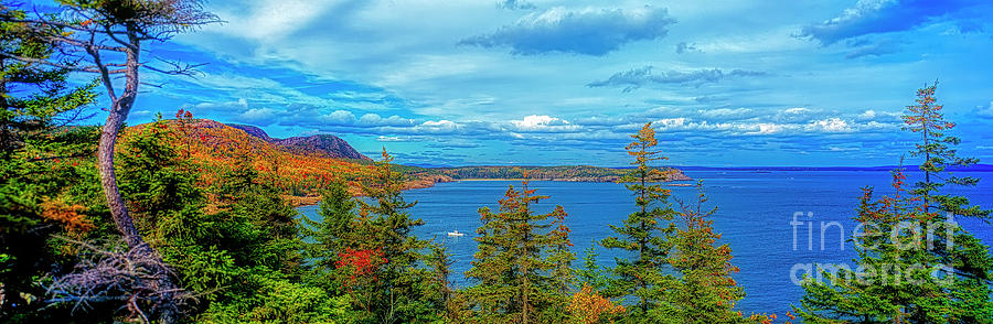 Acadia National Park Otter Cliffs fishing boat seashore Maine USA 3020400031 by Tom Jelen