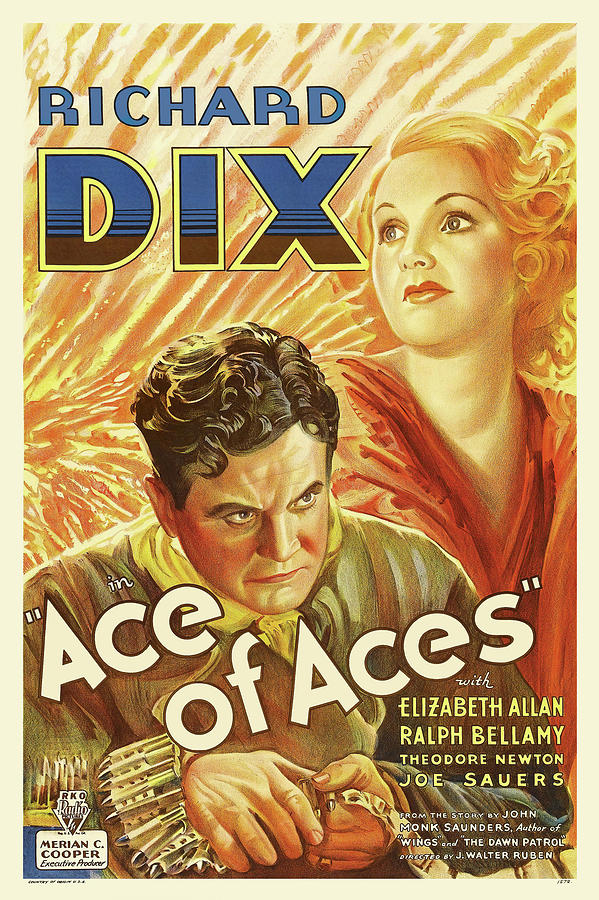 ace Of Aces, With Richard Dix, 1933 Mixed Media