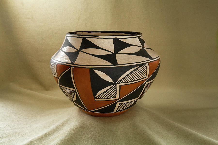 Acoma Indian Pottery From New Mexico Photograph