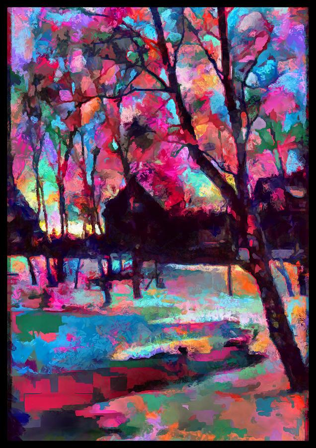 Across Frozen Pond by Mario Carini