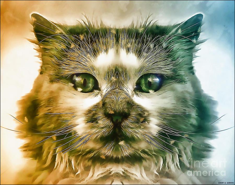 Acrylic Cat Digital Art