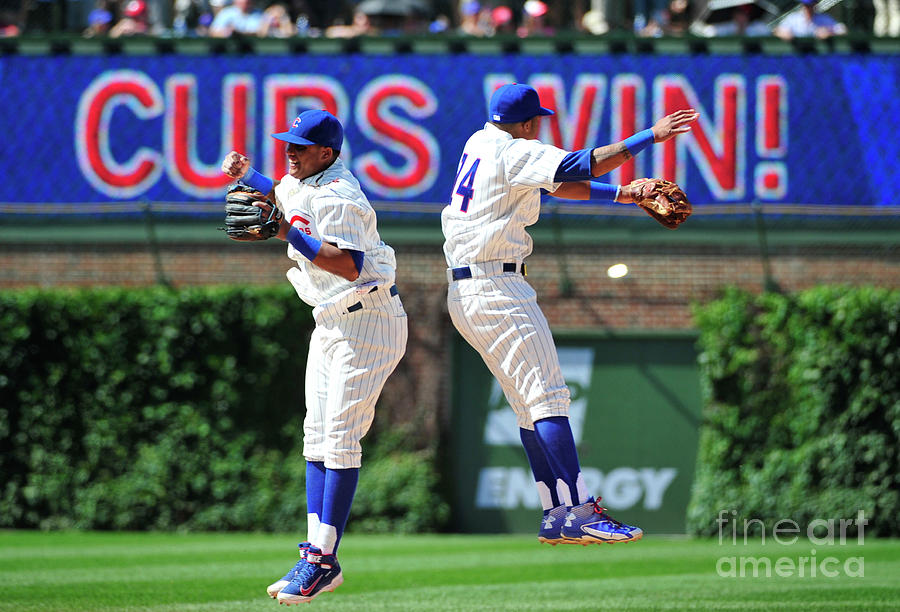 Addison Russell and Starlin Castro Photograph by David Banks