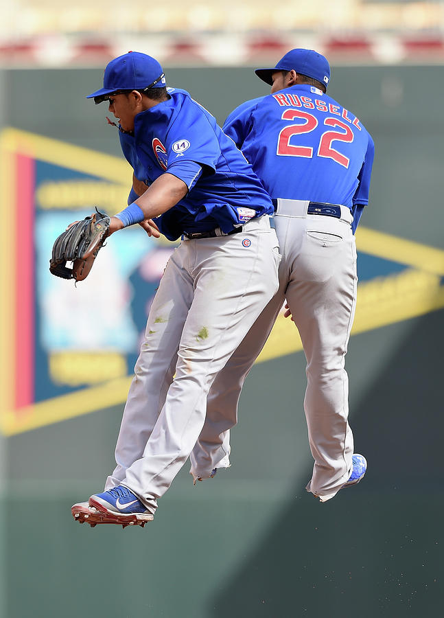 Addison Russell and Starlin Castro Photograph by Hannah Foslien