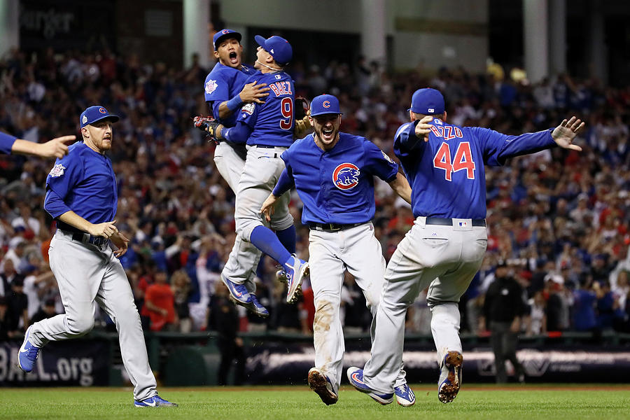 Addison Russell, Kris Bryant, And Javier Baez Photograph by Ezra Shaw