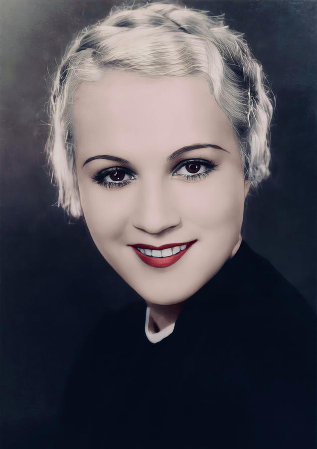 Famous Comedian Painting - Adina Mandlova Czech Actor Portrait by Vincent
