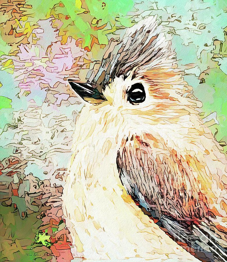 Adorable Titmouse Digital Art