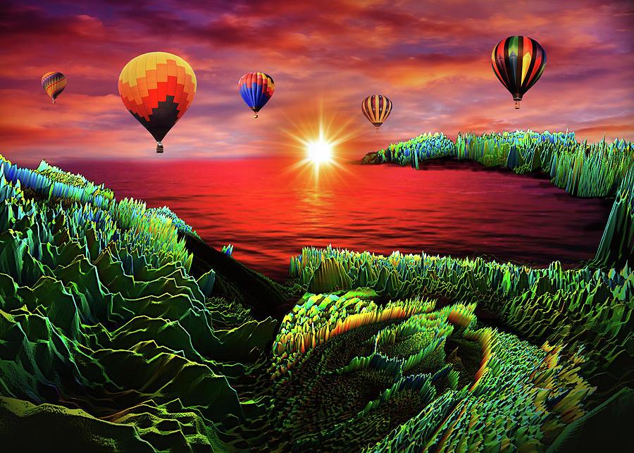 Adventure Above Iguana Bay Digital Art