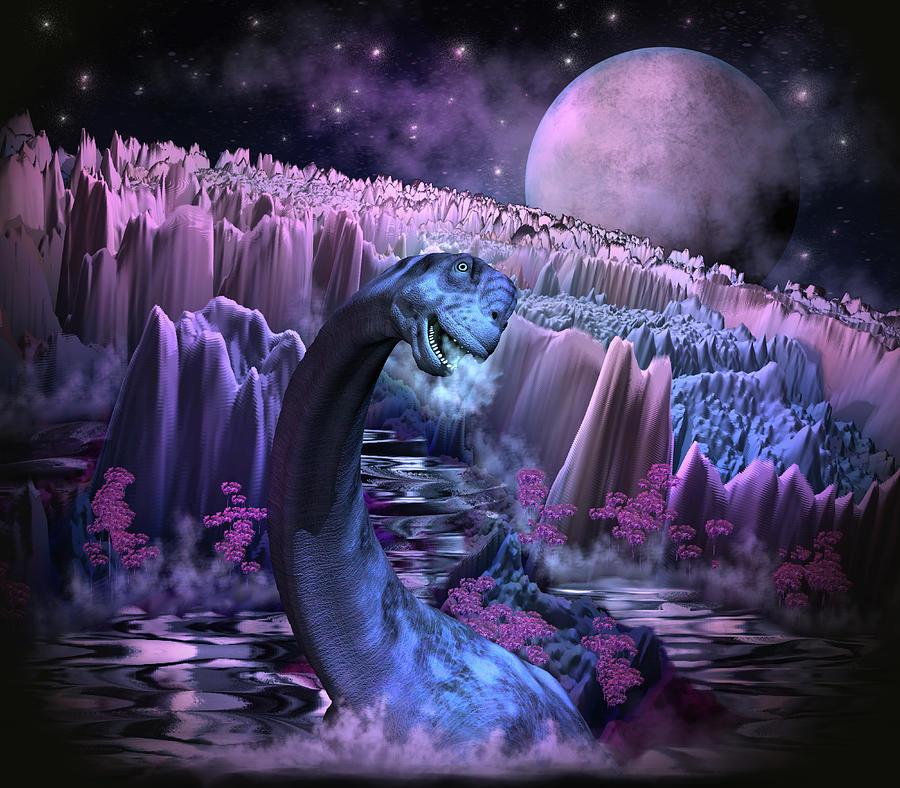 Adventure To Dinosaur Island Digital Art